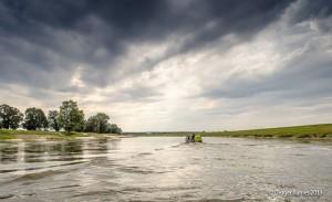 Die Elbe bei Hochwasser 2013
